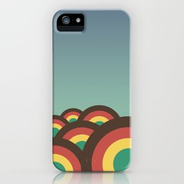 Foothills on warm blue - 70´s iPhone Case