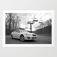 subaru Art Prints featuring Subaru Legacy by 218studio
