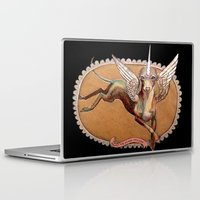 kermit Laptop & iPad Skins featuring Kermit the Silver Unicorn by Emily A Robertson