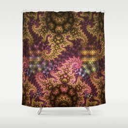 Dragon dreams, fractal pattern abstract Shower Curtain