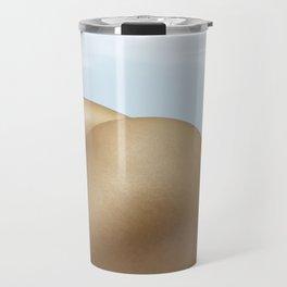 Nude Sunbathing on the Beach Travel Mug