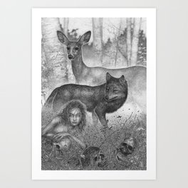 As The World Disappears Art Print