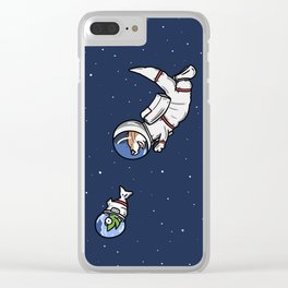 Otternaut in Otter Space Clear iPhone Case