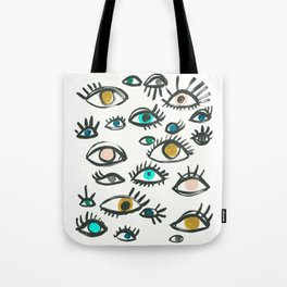 Pop Eyes Tote Bag