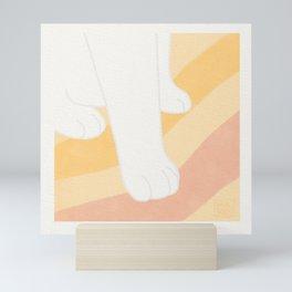 Fluffy Little Clouds - Cute Cat Paws! Mini Art Print