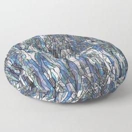 Abstract blue 2 Floor Pillow