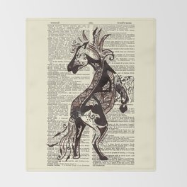Fierce (Lunar New Year 2014 Horse) Throw Blanket