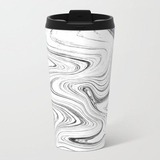 Marble (watecolor) Metal Travel Mug