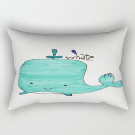 Whale you be my Valentine? Rectangular Pillow
