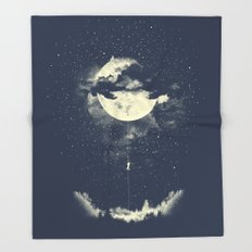 MOON CLIMBING Throw Blanket