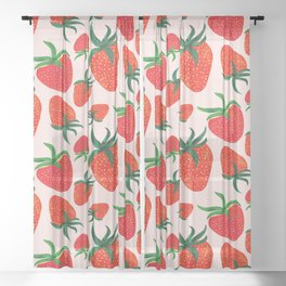 Strawberry Harvest Sheer Curtain