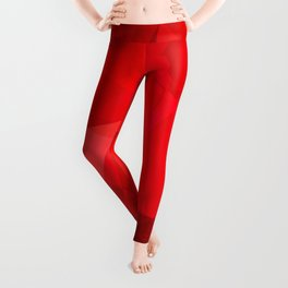 Mottled Red Poinsettia 2 Abstract Polygons 2 Leggings