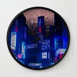 Seoul Meteor Shower  Wall Clock