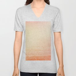 Modern abstract orange summer ombre pattern Unisex V-Neck