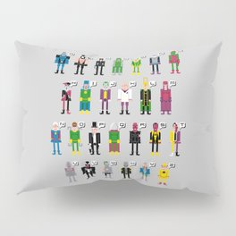 Pixel Supervillain Alphabet Pillow Sham