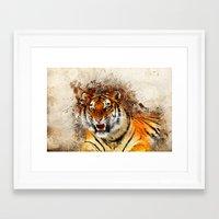 fierce Framed Art Prints featuring Fierce by Robin Curtiss