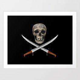 A Pirate's Blades Art Print