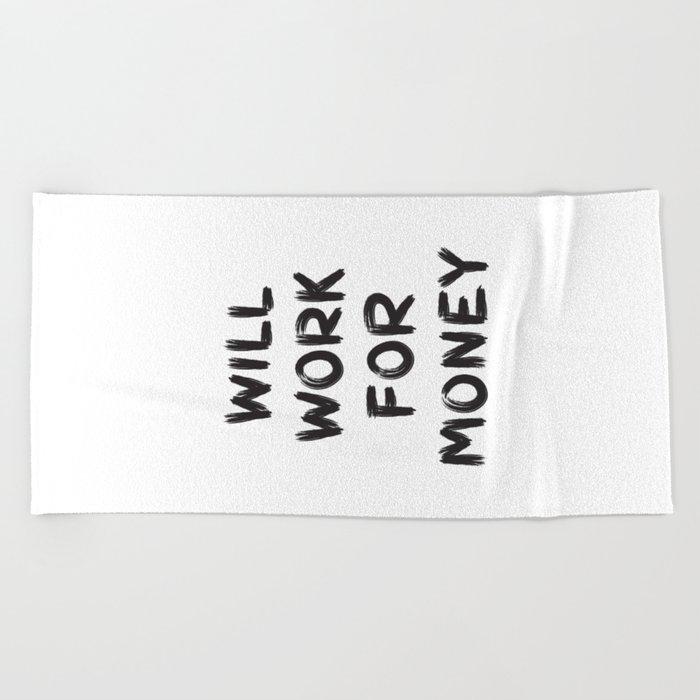 Money Beach Towel