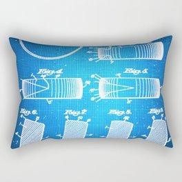 Hockey Puck Patent Blueprint Drawing Rectangular Pillow