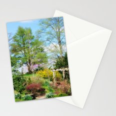 Spring Garden Setting Stationery Cards