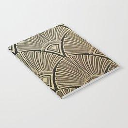 Golden Art Deco pattern Notebook