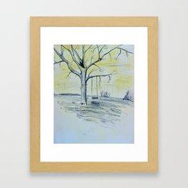Tree-swing Pencil Framed Art Print
