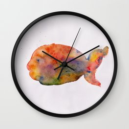 Alone in the blank Wall Clock