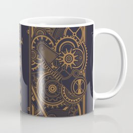 Steampunk Polyhedral Dice Sword Tabletop RPG Gaming Coffee Mug