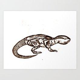 ROBOT ANIMAL ILLUSTRATION Art Print