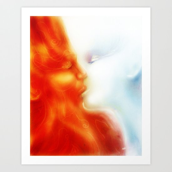 Fire and Ice Art Print