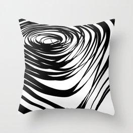 Simple Spiral Warped2 Throw Pillow