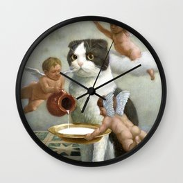 Precious Kitty Wall Clock