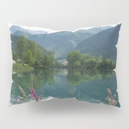 Mountain reflection  on lake Pillow Sham