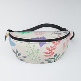 Watercolor flowers & butterflies Fanny Pack