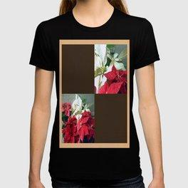 Mixed color Poinsettias 3 Blank Q3F0 T-shirt