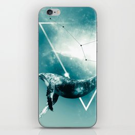 The Whale - Blu iPhone Skin