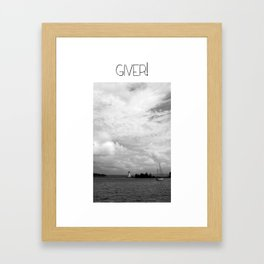 Giver Baddeck! Framed Art Print