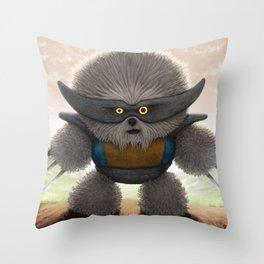 Flufferine Throw Pillow