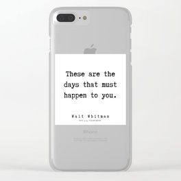12    | Walt Whitman Quotes | 190803 Clear iPhone Case
