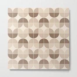 Mid Century Geometric 3 Metal Print
