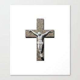 Jesuschrist on a Cross Sculpture Canvas Print