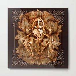 A Frog Skeleton Metal Print