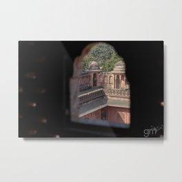 Pardah Architecture of Jaipur. Metal Print