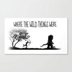 Where the wild things were. Canvas Print