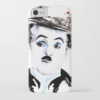 charlie chaplin iPhone & iPod Cases featuring Charlie Chaplin by Anastasia Efthias