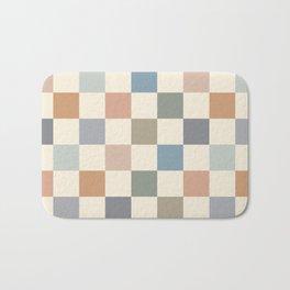Blue & Beige Neutral Checker Bath Mat