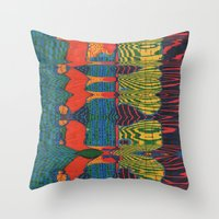 acid Throw Pillows featuring Acid by Rocovich