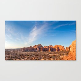 Natural Monuments Panorama in Arches National Park Canvas Print