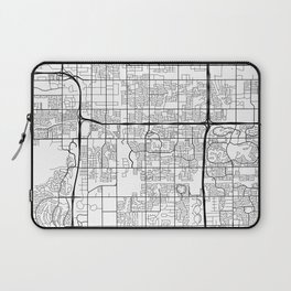 Tempe Map, USA - Black and White Laptop Sleeve