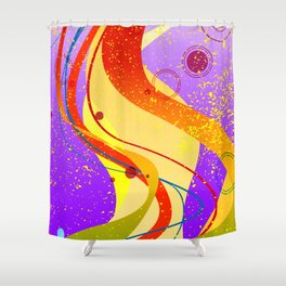 Jazz Fleck Background Shower Curtain